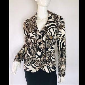 Joseph Ribkoff animal print blazer jacket